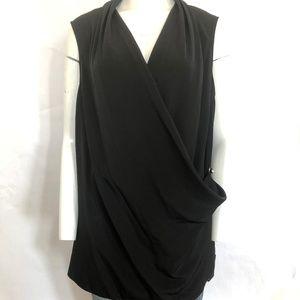 Calvin Klein sz 1x sleeveless wrap blouse